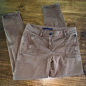 Zara Basic Women's Brown Cropped Pants